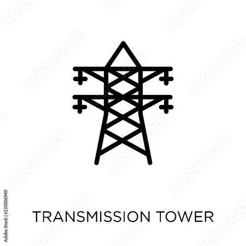 Transmission tower icon Canvas-taulu