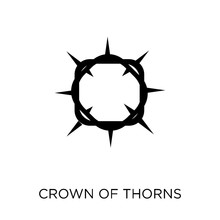 Crown Of Thorns Icon. Crown Of...