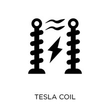Tesla Coil Icon. Tesla Coil Symbol Design From Science Collection.