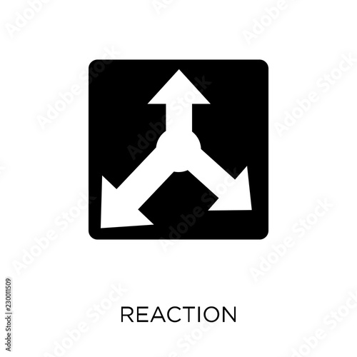 фотографія  Reaction icon. Reaction symbol design from Startup collection.
