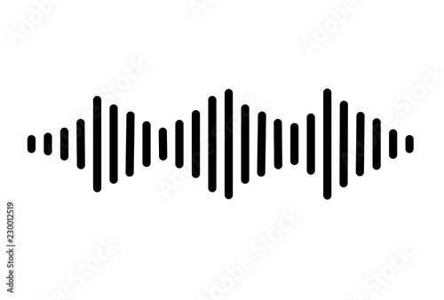 audio signal icon on white background  flat style  sound