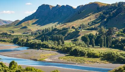 Beautiful landscape of Te Mata Peak and Tukituki river in Hawke's bay region of New Zealand.