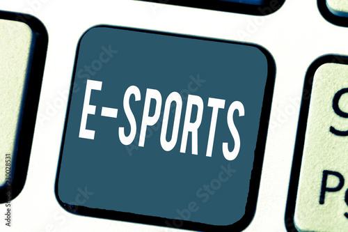 Photo  Handwriting text E Sports