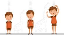 Height Of Child Grow Up. Littl...