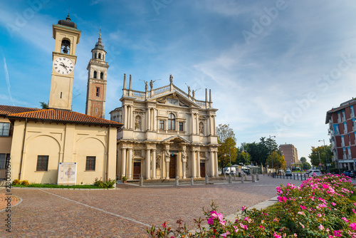 Fotografie, Obraz  Sanctuary of Our Lady of the Miracles, Saronno, Italy; was declared part of the European Heritage