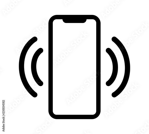 Fotografía Smartphone / mobile phone vibrating or ringing flat vector icon for apps and web