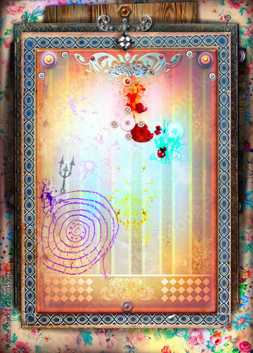 Canvas Prints Imagination Sfondo decorativo circense e teatrale vintage