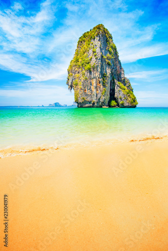 Poster Asia land Amazing tropical beach in Thailand
