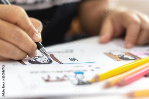 Storyboard Drawing With Pencil Creative Sketch Cartoon