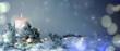 canvas print picture - Adventskerze im Schnee - Weihnachtlicher Hintergrund