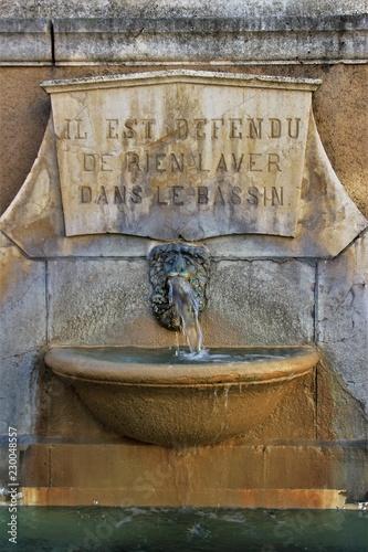 Foto op Canvas Fontaine Fontaine à Cahors.