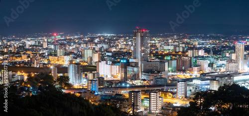 都市風景 熊本市 夜景