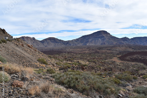 Tuinposter Grijs Big mountains near the big famous volcano Pico del Teide in Tenerife, Europe