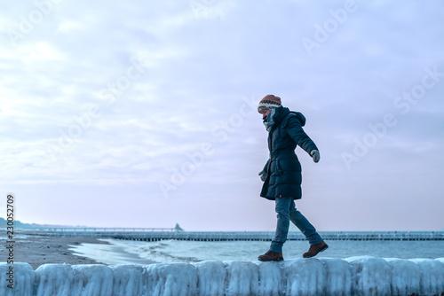 Winter an der Ostsee Küste