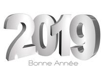 2019 Bonne Année Lettres Simp...