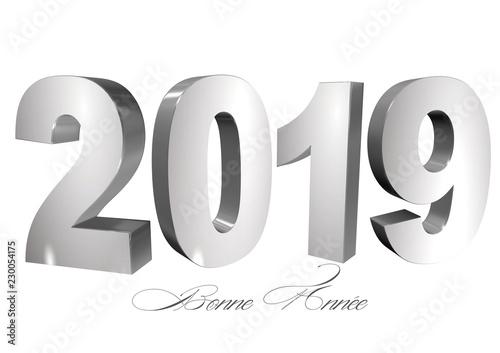 Fabuleux bannière 2019 bonne année fond blanc - Acheter cette illustration &OO_74