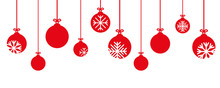 Red Christmas Bauble Decoratio...