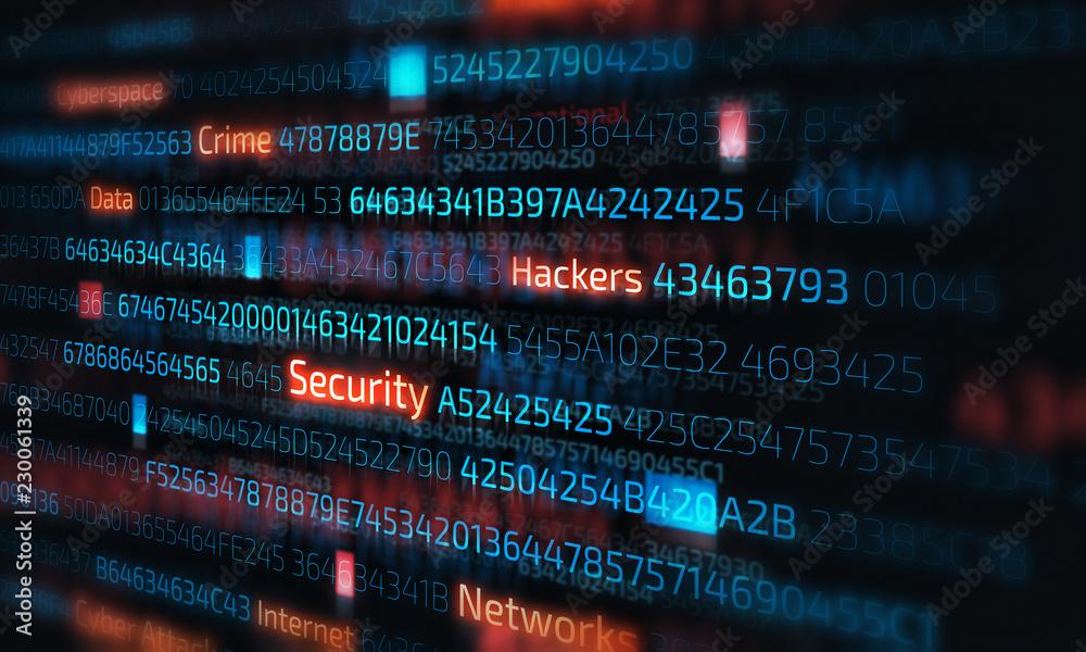 Fototapeta Computer hacking concept