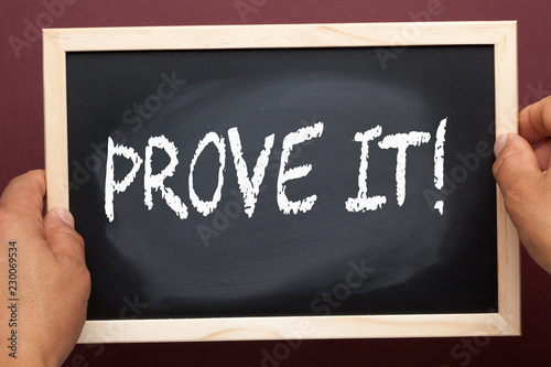Prove it written on blackboard