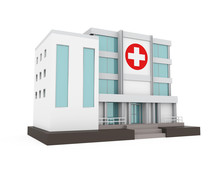 Hospital Building Isolated