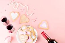 Valentine's Day Cookies, Wine ...