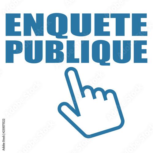 Photo Logo enquête publique.
