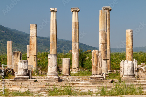 Foto op Canvas Rudnes Ruins of the ancient city Magnesia (Magnesia on the Maeander), Turkey