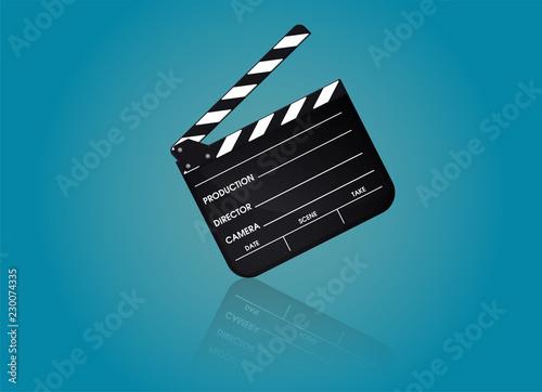 Fényképezés Slate of director film Collection. Illustration Vector EPS10.
