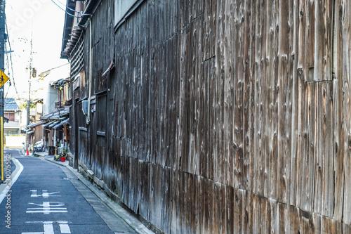 夕暮れの京都の街並み