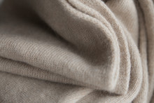 Folds Of Beige Wool