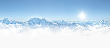 Panorama Of Winter Mountains I...