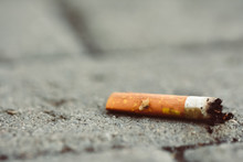 Cigarettes Stub On The Street
