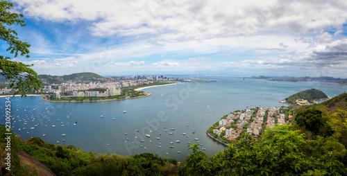 Panoramic aerial view of Rio de Janeiro and Guanabara Bay - Rio de Janeiro, Brazil