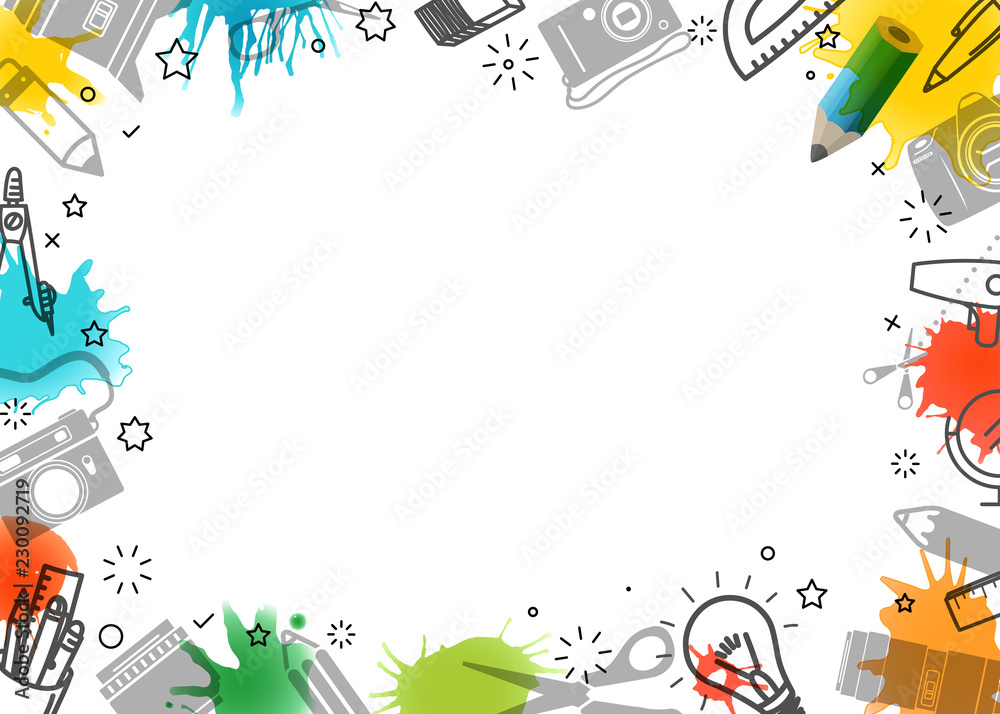 Fototapety, obrazy: Creative frame. Vector art background