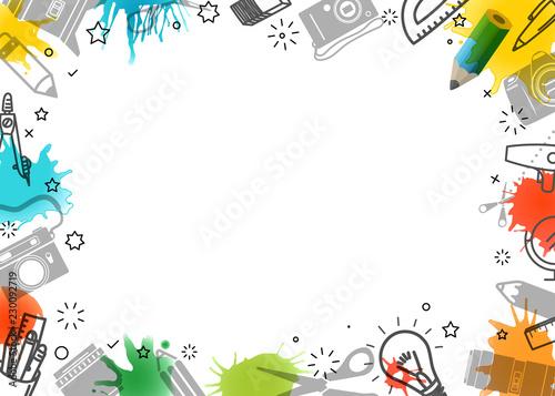 Fotomural Creative frame. Vector art background