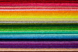 Fototapeta Rainbow - Staple of multicolored felt flaps