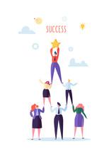 Successful Team Work Concept. ...