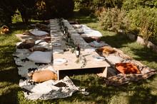 Long Floor Table Garden Party Dinner