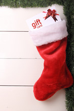 Christmas Stocking With A Gift Card Inside