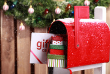 Red Mailbox With Christmas Gif...