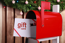 Gift Card In A Red Mailbox