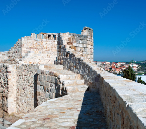 Top of the wall of the castle of Zamora