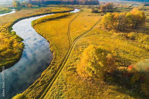Foto op Aluminium Luchtfoto Rural scenery
