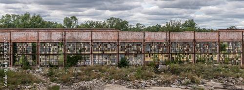 Abandoned Building Wall Wallpaper Mural