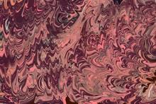 Ebru Traditional Marbling Turkish Ink Handpainted Endpaper Design Background