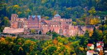 Heidelberg Castle In Autumn