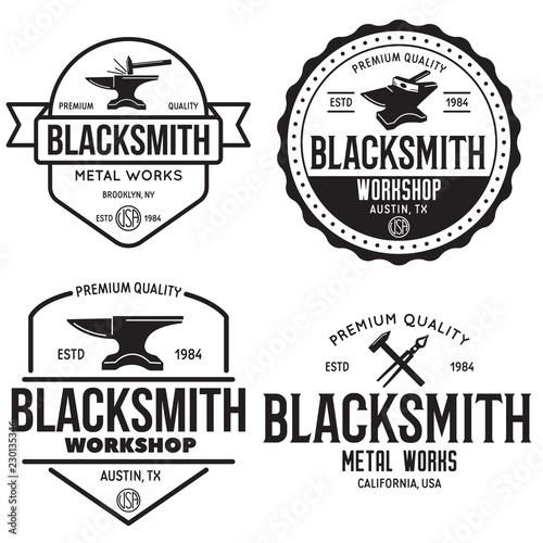 Obraz na plátne Blacksmith labels set