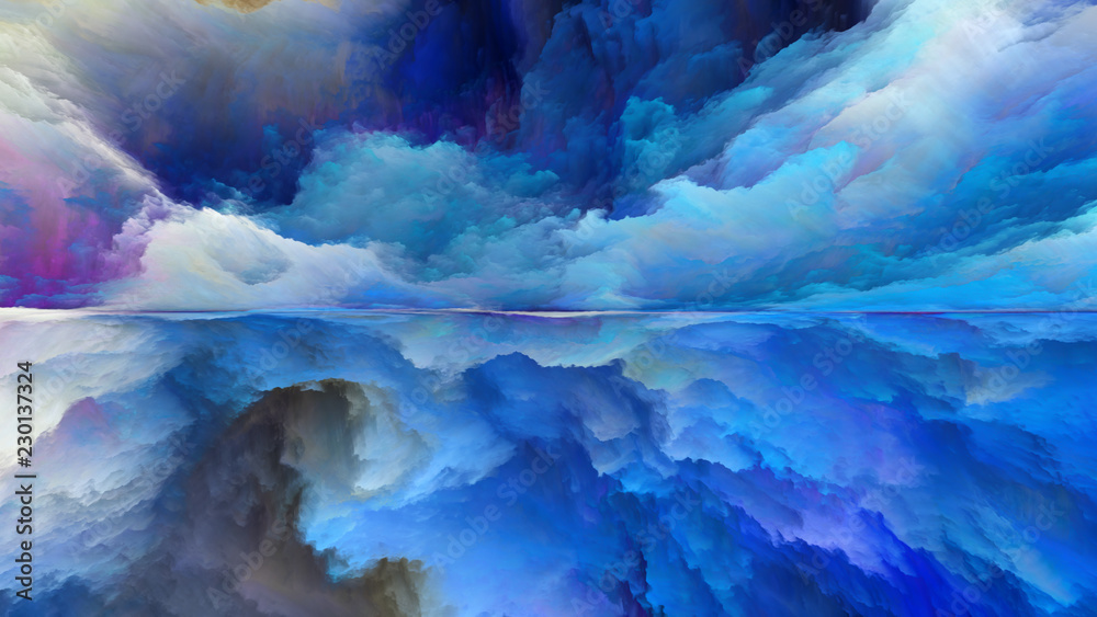 Fototapeta Advance of Abstract Landscape