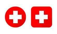 Set Of Medical Crosses. Vector Illustration.