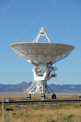 Fotografía  National Radio Astronomy Observatory Very Large Array Telescope in New Mexico